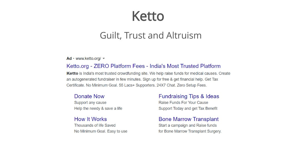 Ketto Guilt, Trust and Altruism