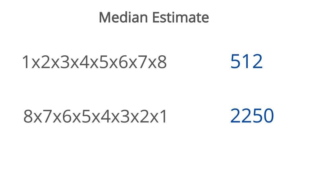 Median Estimate 1x2x3x4x5x6x7x8 8x7x6x5x4x3x2x1...