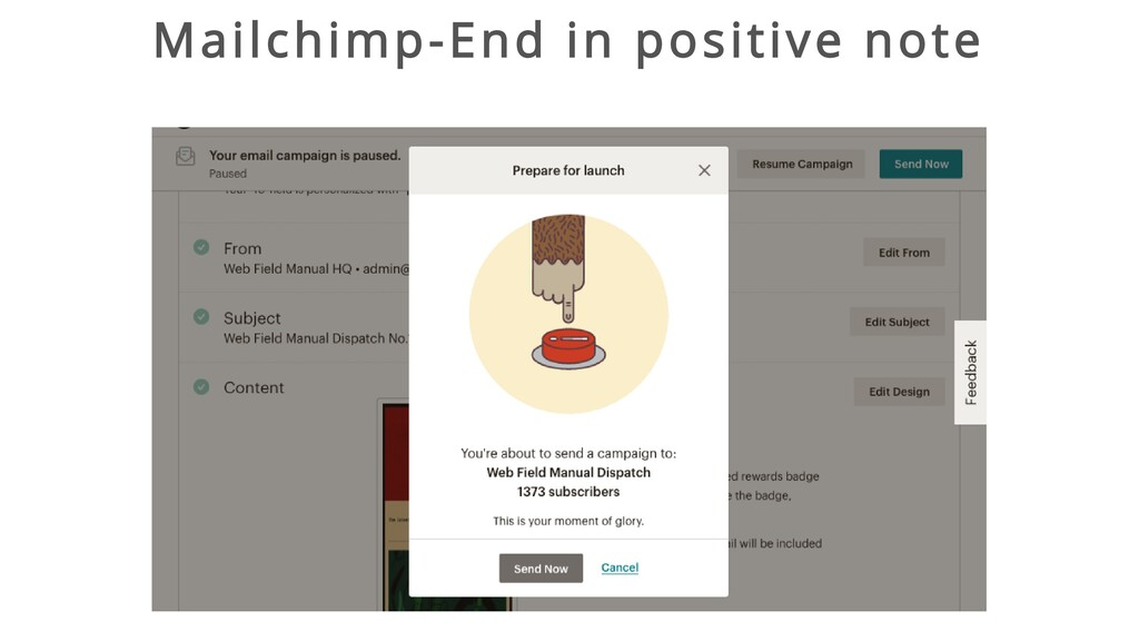 Mailchimp-End in positive note