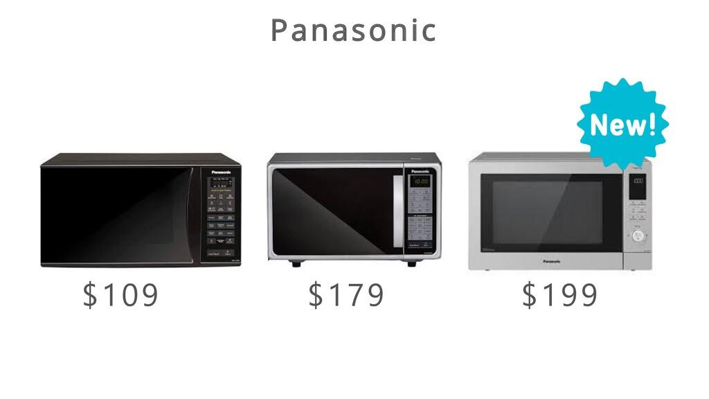 Panasonic $109 $179 $199