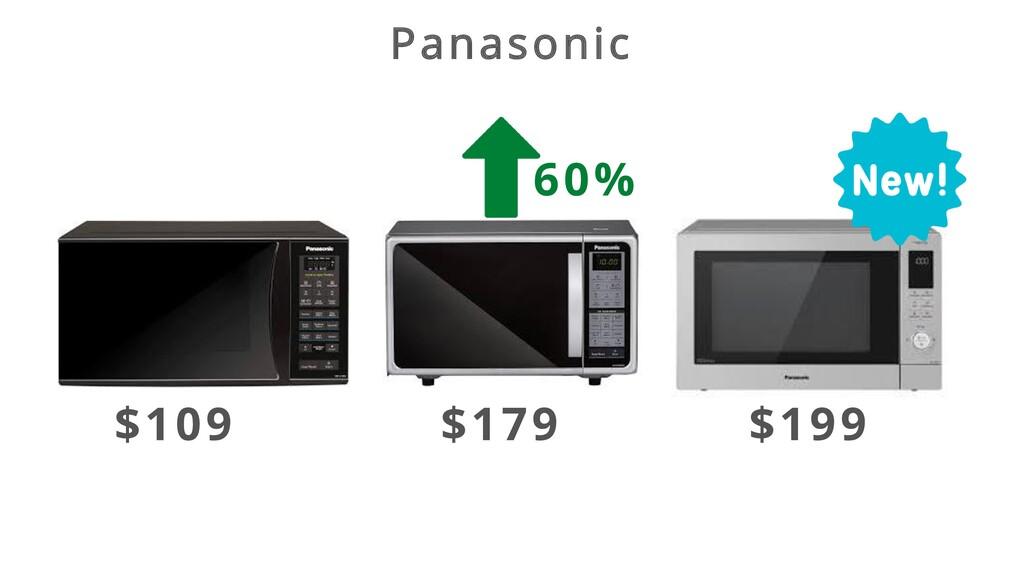 Panasonic $109 $179 $199 60%