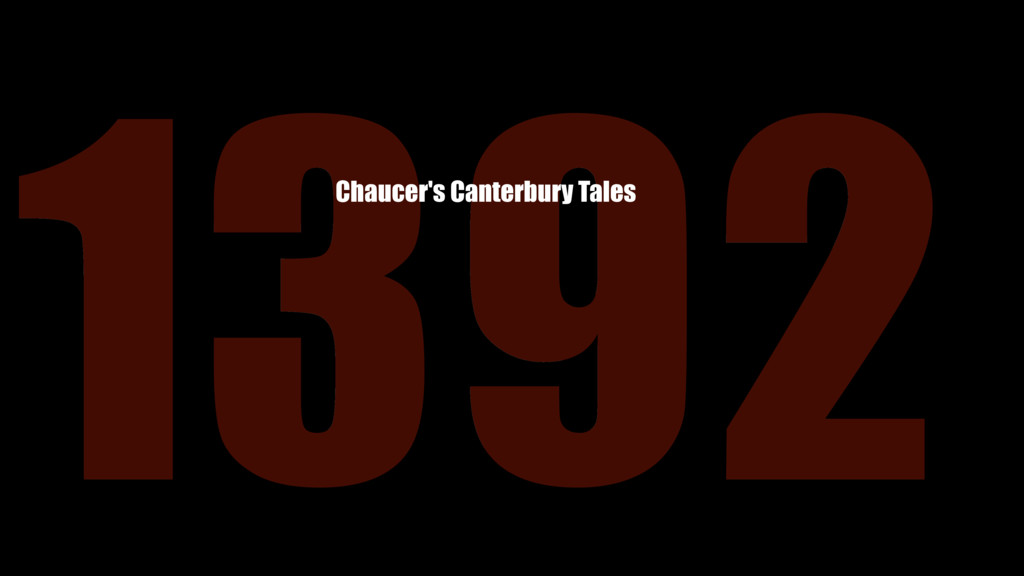1392 Chaucer's Canterbury Tales