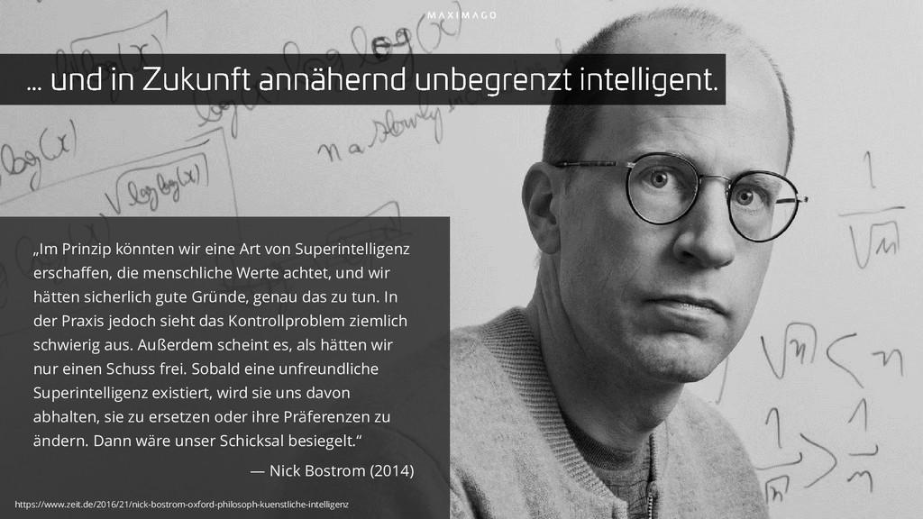 """""""Im Prinzip könnten wir eine Art von Superintel..."""