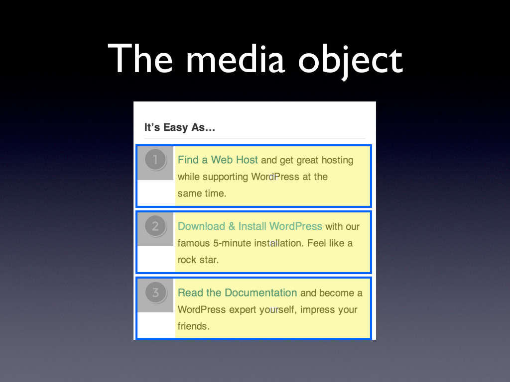 The media object m m m