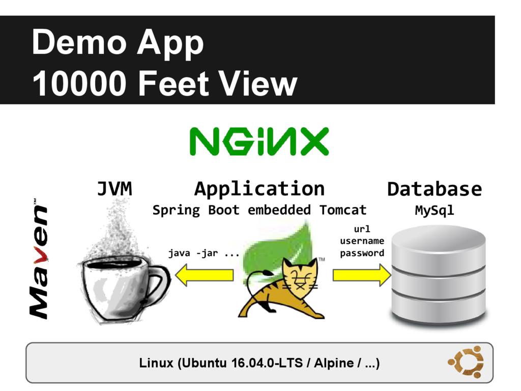 Demo App 10000 Feet View Linux (Ubuntu 16.04.0-...
