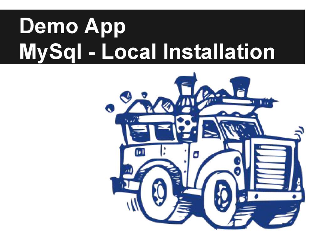 Demo App MySql - Local Installation