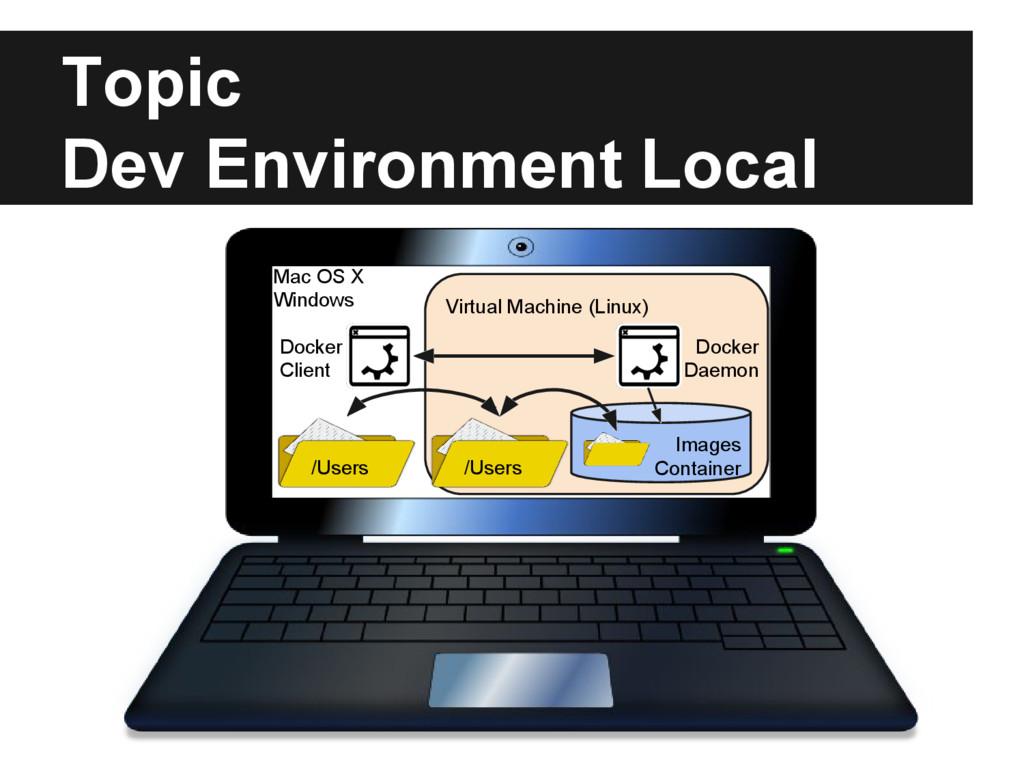 Topic Dev Environment Local Virtual Machine (Li...