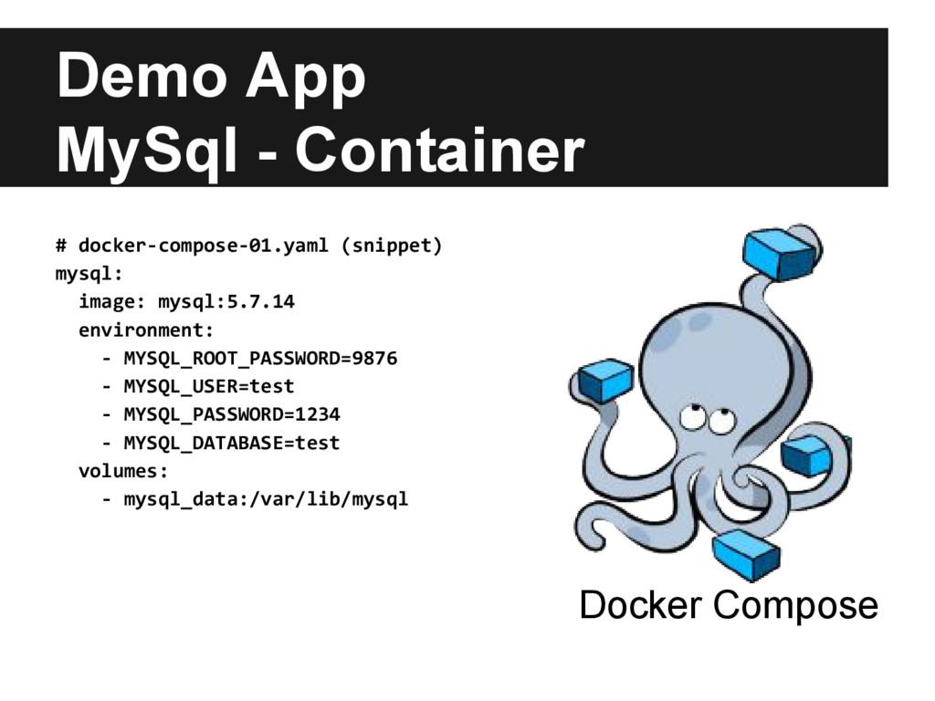 Demo App MySql - Container Docker Compose # doc...