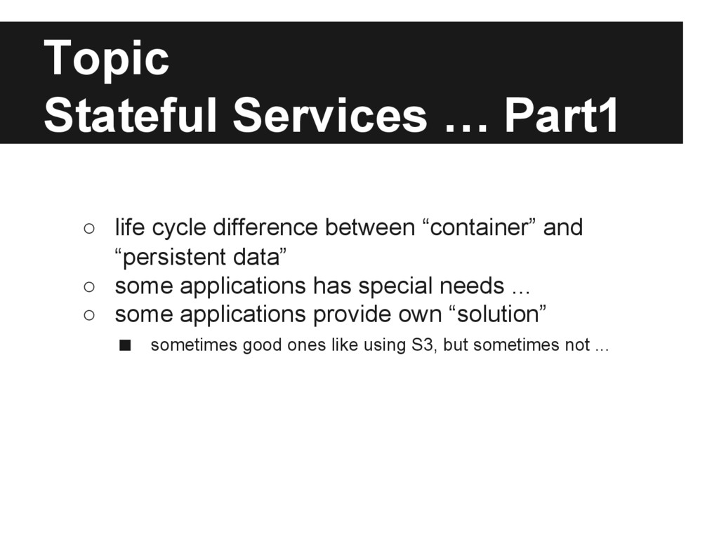 Topic Stateful Services … Part1 ○ life cycle di...