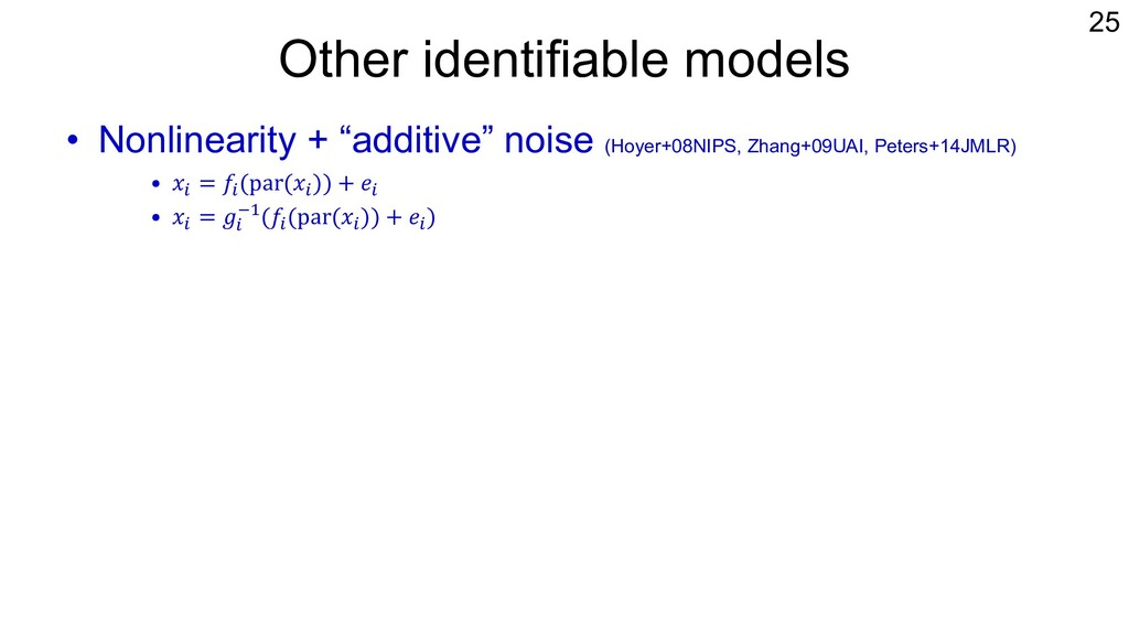 """Other identifiable models • Nonlinearity + """"add..."""