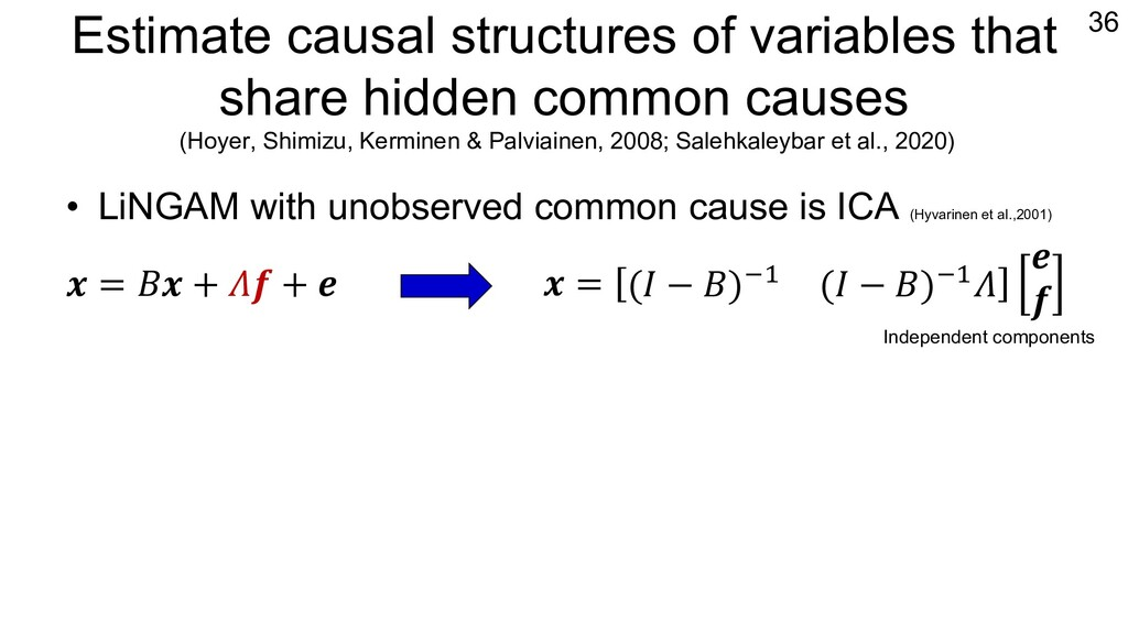 Estimate causal structures of variables that sh...