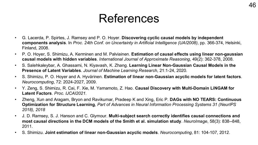 References • G. Lacerda, P. Spirtes, J. Ramsey ...