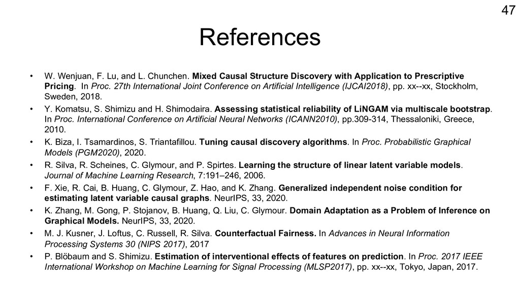 References • W. Wenjuan, F. Lu, and L. Chunchen...