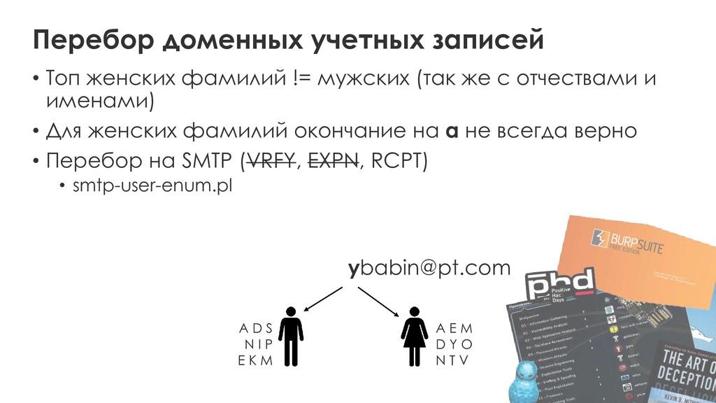 Перебор доменных учетных записей • Топ женских ...