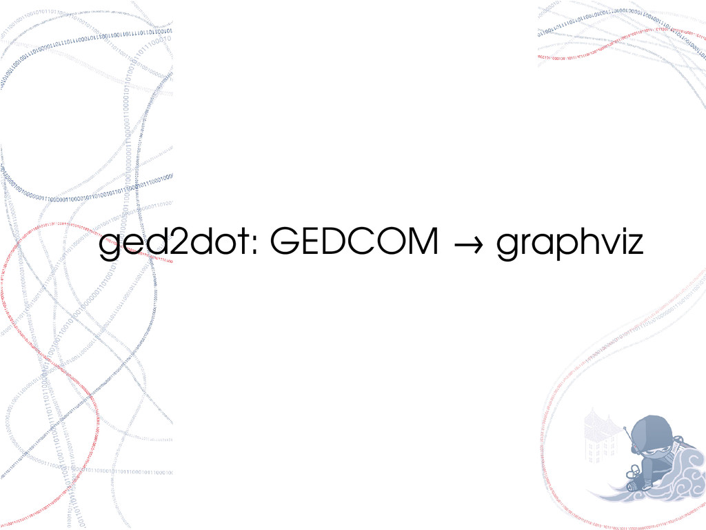 ged2dot: GEDCOM graphviz →