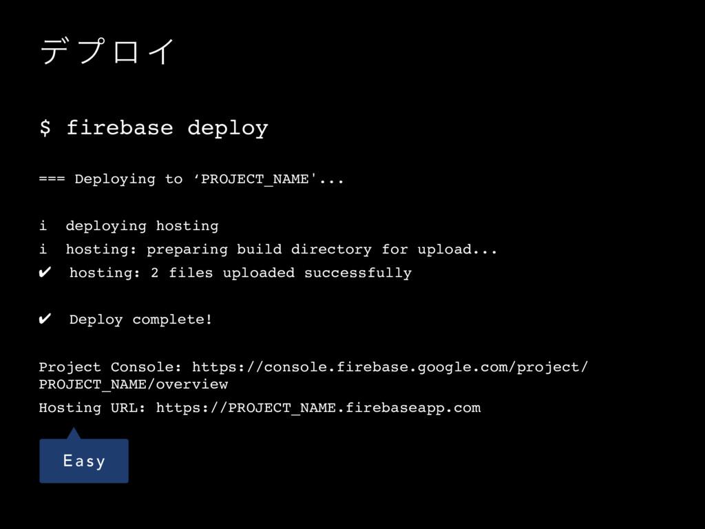σ ϓ ϩ Π $ firebase deploy === Deploying to 'PRO...