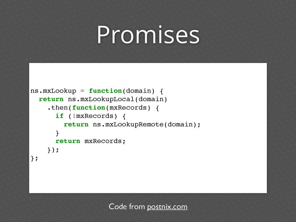 Promises ns.mxLookup = function(domain) { retur...