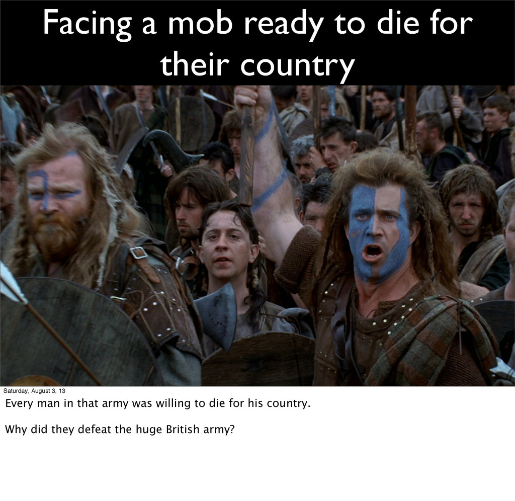 Facing a mob ready to die for their country Sat...