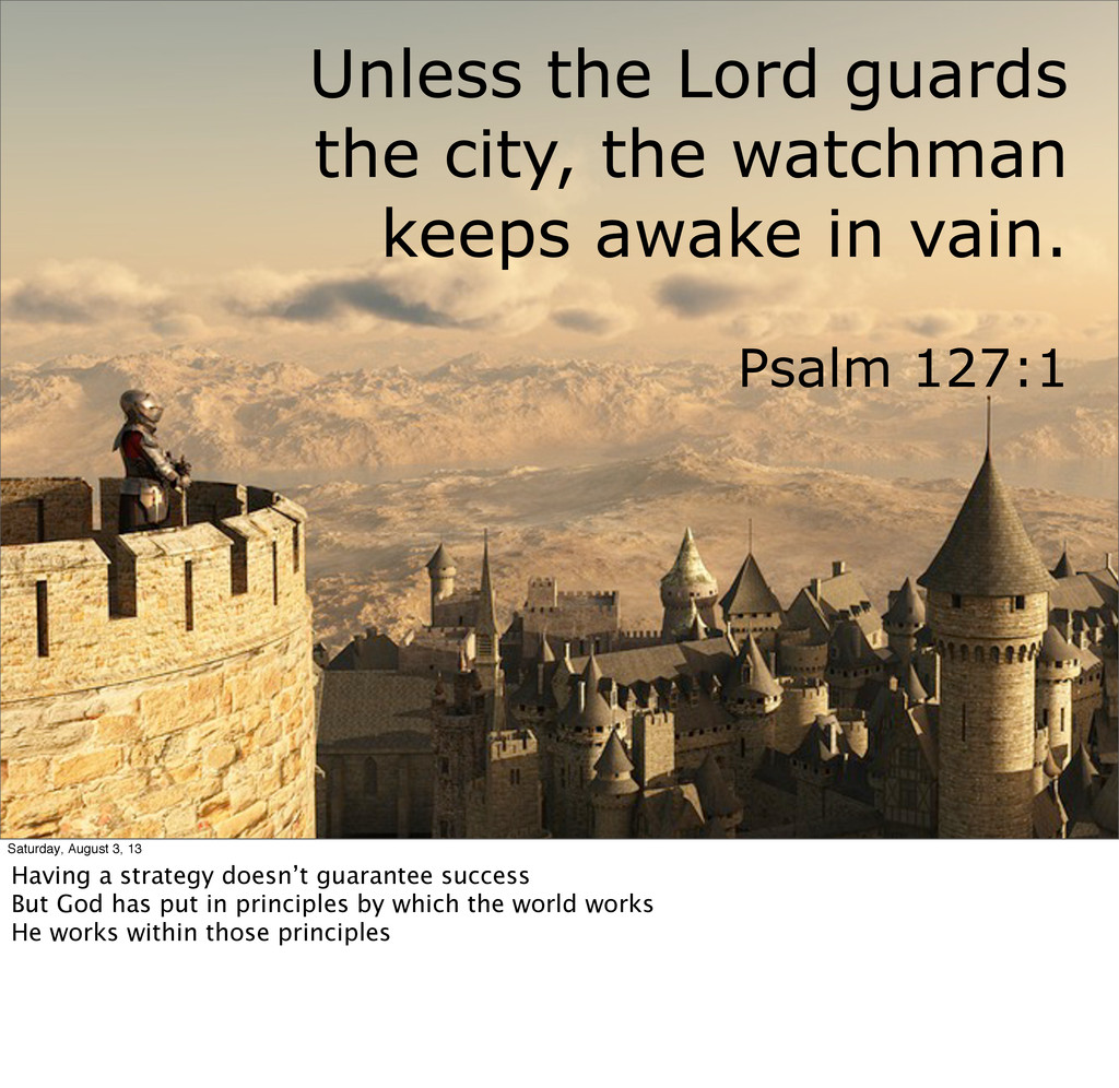 Unless the Lord guards the city, the watchman k...