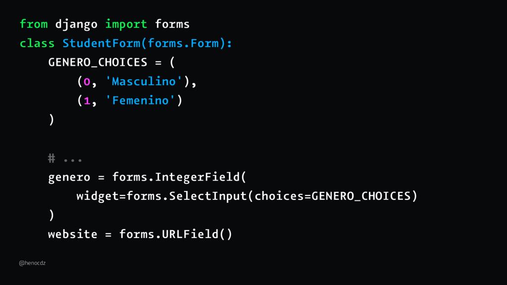 from django import forms class StudentForm(form...
