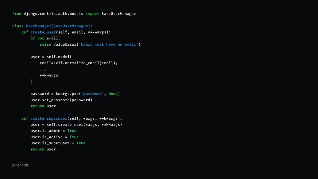 from django.contrib.auth.models import BaseUser...