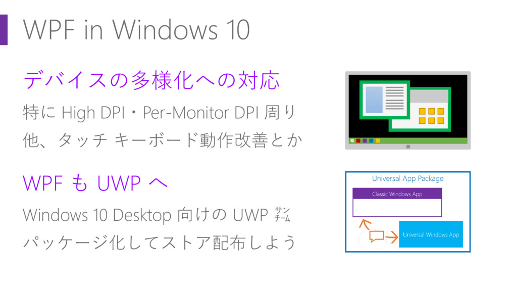 WPF in Windows 10 デバイスの多様化への対応 特に High DPI・Per-...