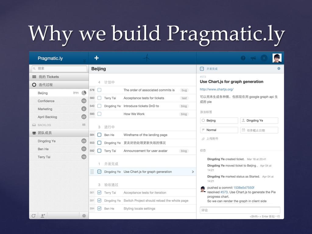 Why we build Pragmatic.ly