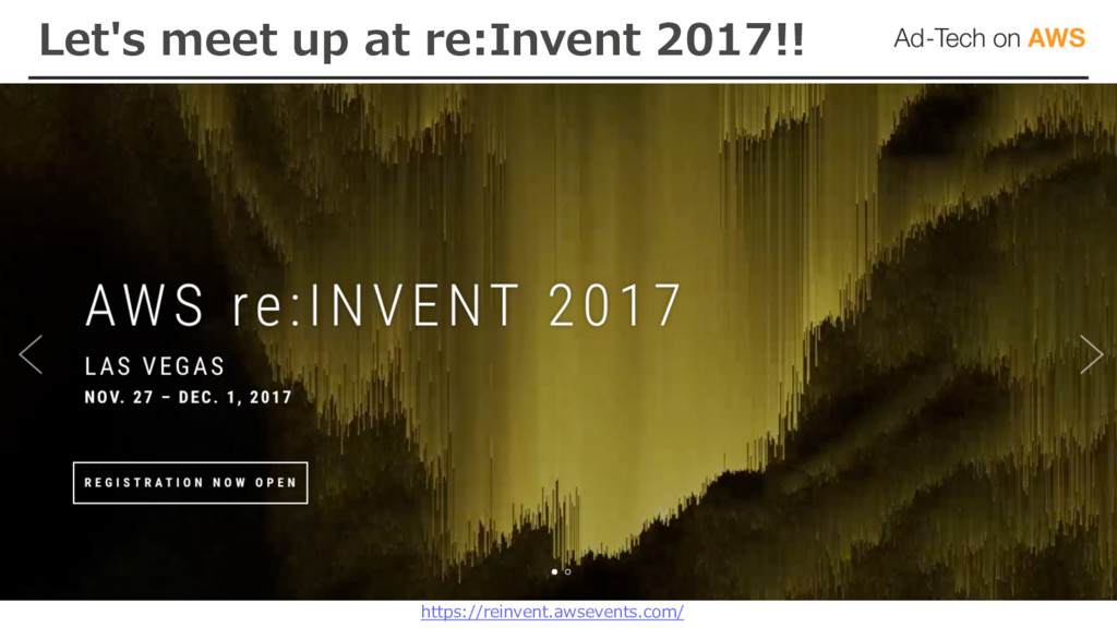 Let's meet up at re:Invent 2017!! https://reinv...