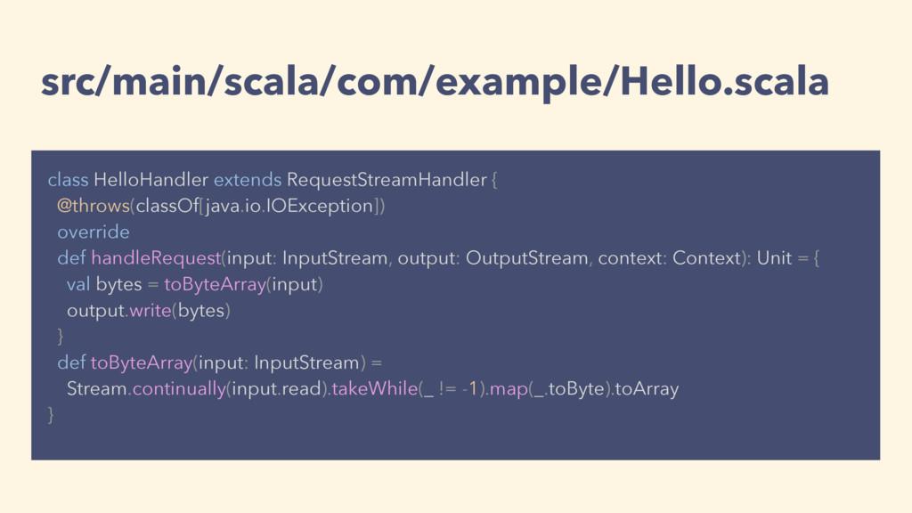 src/main/scala/com/example/Hello.scala class He...