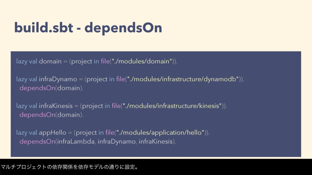 build.sbt - dependsOn lazy val domain = (projec...