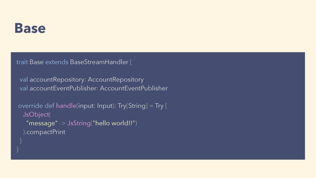 Base trait Base extends BaseStreamHandler { val...