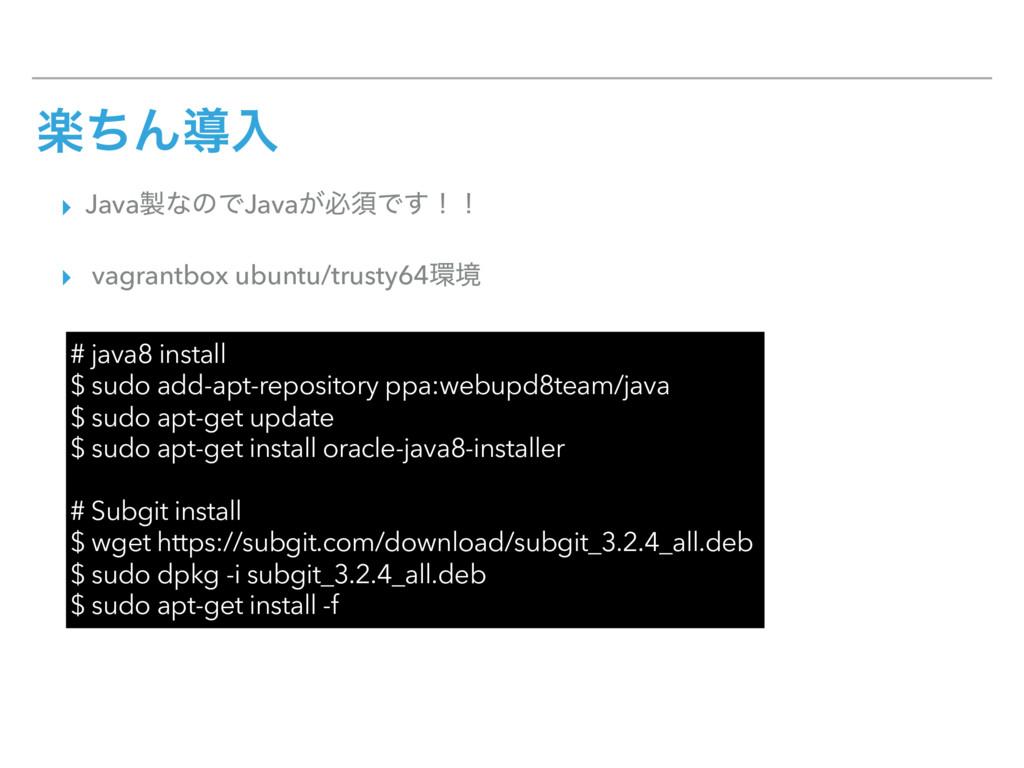 ָͪΜಋೖ ▸ JavaͳͷͰJava͕ඞਢͰ͢ʂʂ ▸ vagrantbox ubuntu...
