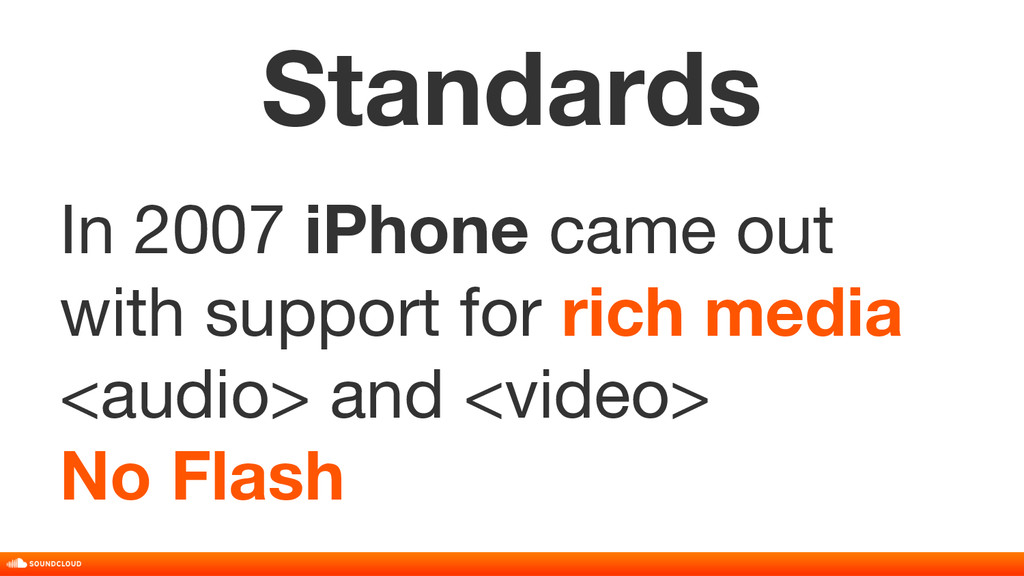 Standards In 2007 iPhone came out with support ...