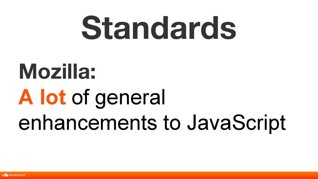 Standards Mozilla: A lot of general enhancement...
