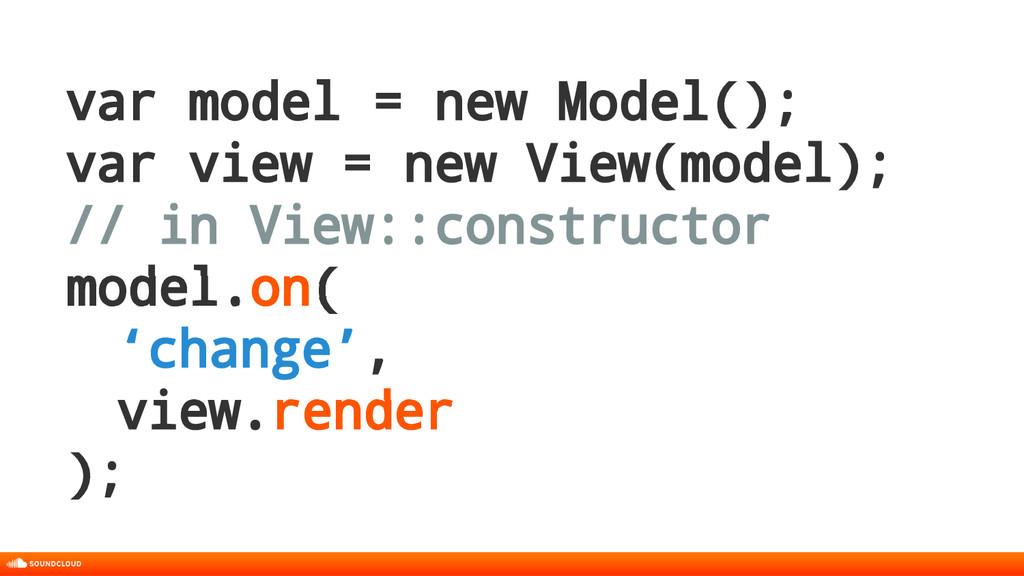 var model = new Model(); var view = new View(mo...