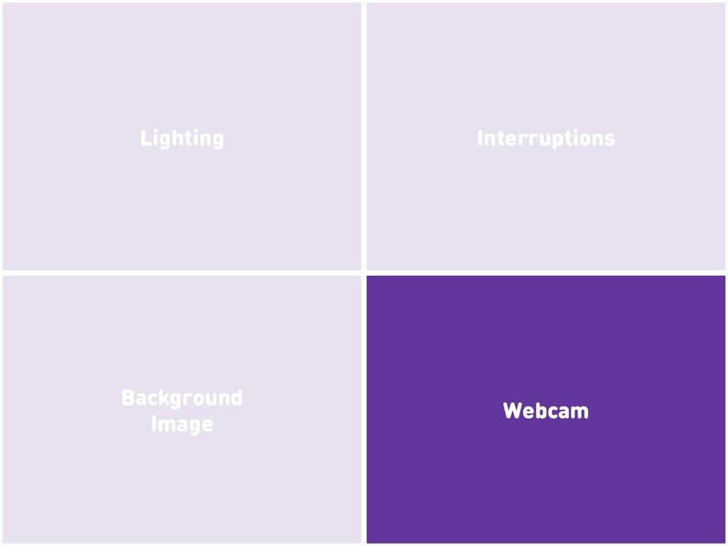Webcam Background Image Interruptions Lighting