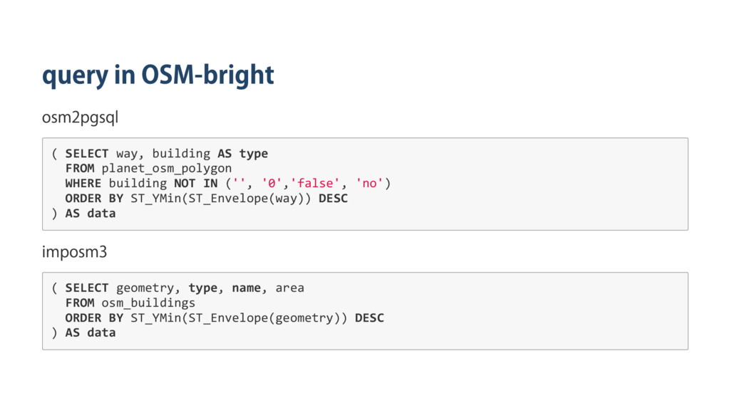 query in OSM‑bright osm2pgsql ( S E L E C T w a...