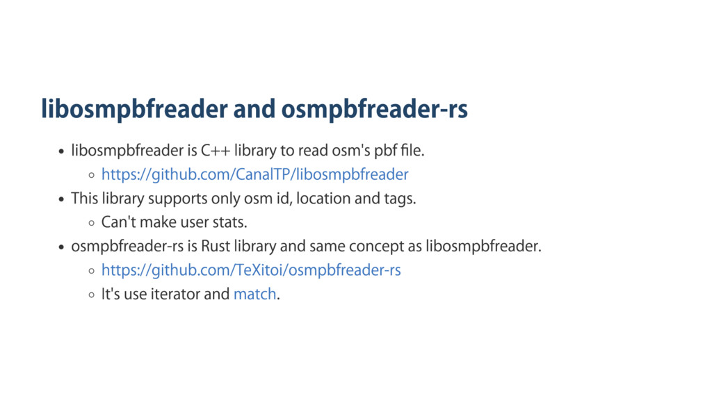 libosmpbfreader and osmpbfreader‑rs libosmpbfre...
