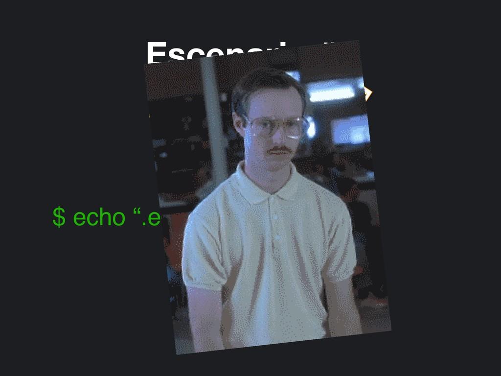 """Escenario #2 Automated  $ echo """".env"""" >> .gitig..."""