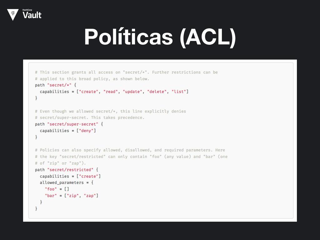 Políticas (ACL)