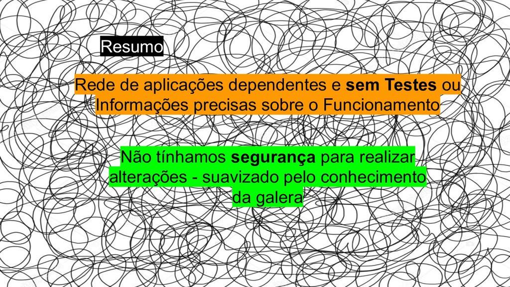 Rede de aplicações dependentes e sem Testes ou ...
