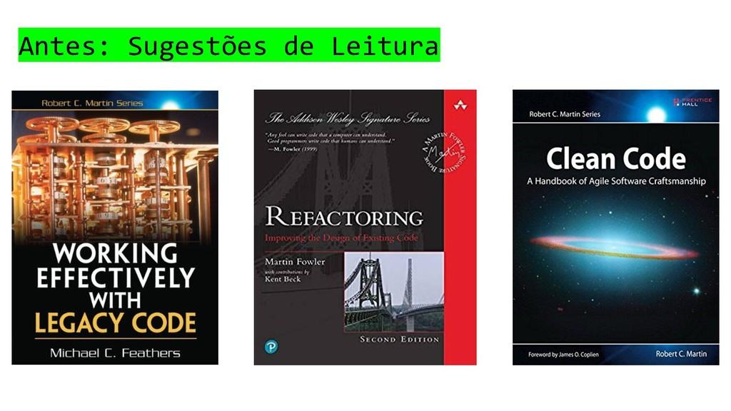 Antes: Sugestões de Leitura