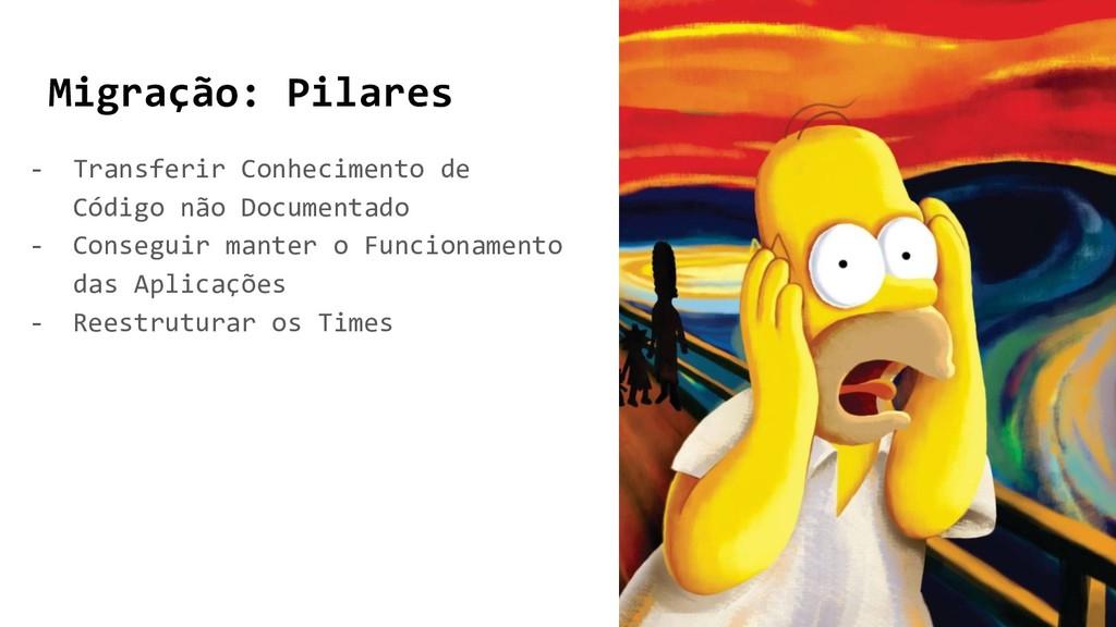 Migração: Pilares - Transferir Conhecimento de ...