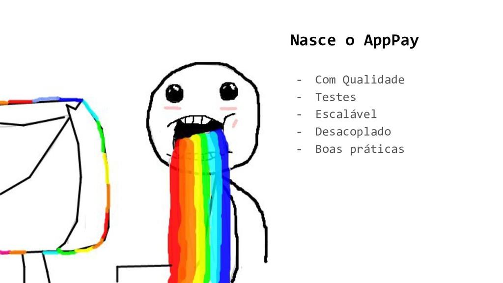 Nasce o AppPay - Com Qualidade - Testes - Escal...