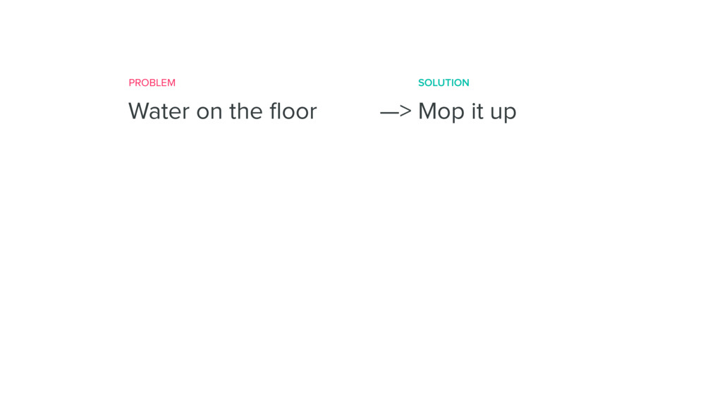 Title (H1) Water on the floor —> Mop it up PROBL...
