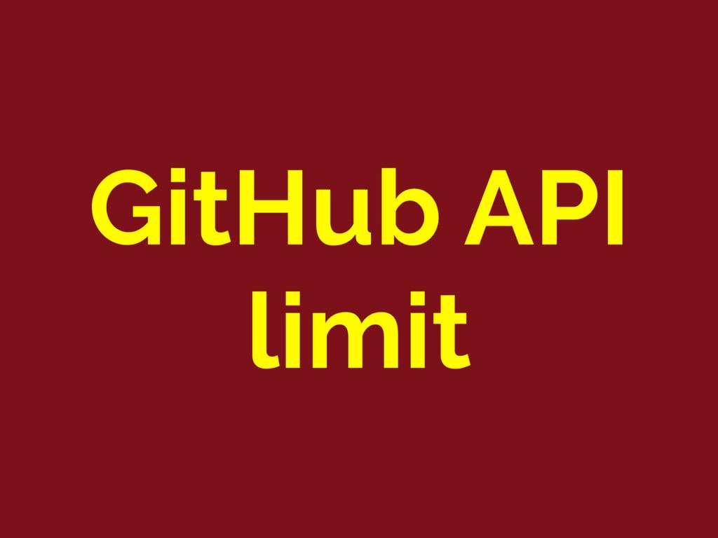 GitHub API limit