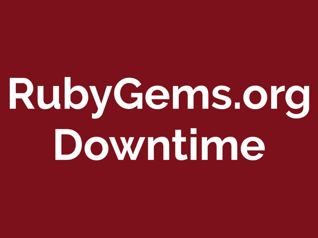RubyGems.org Downtime