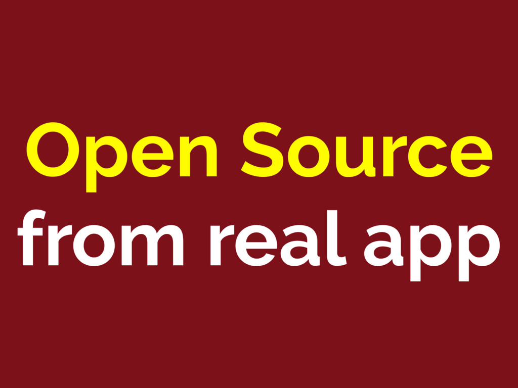 Open Source from real app