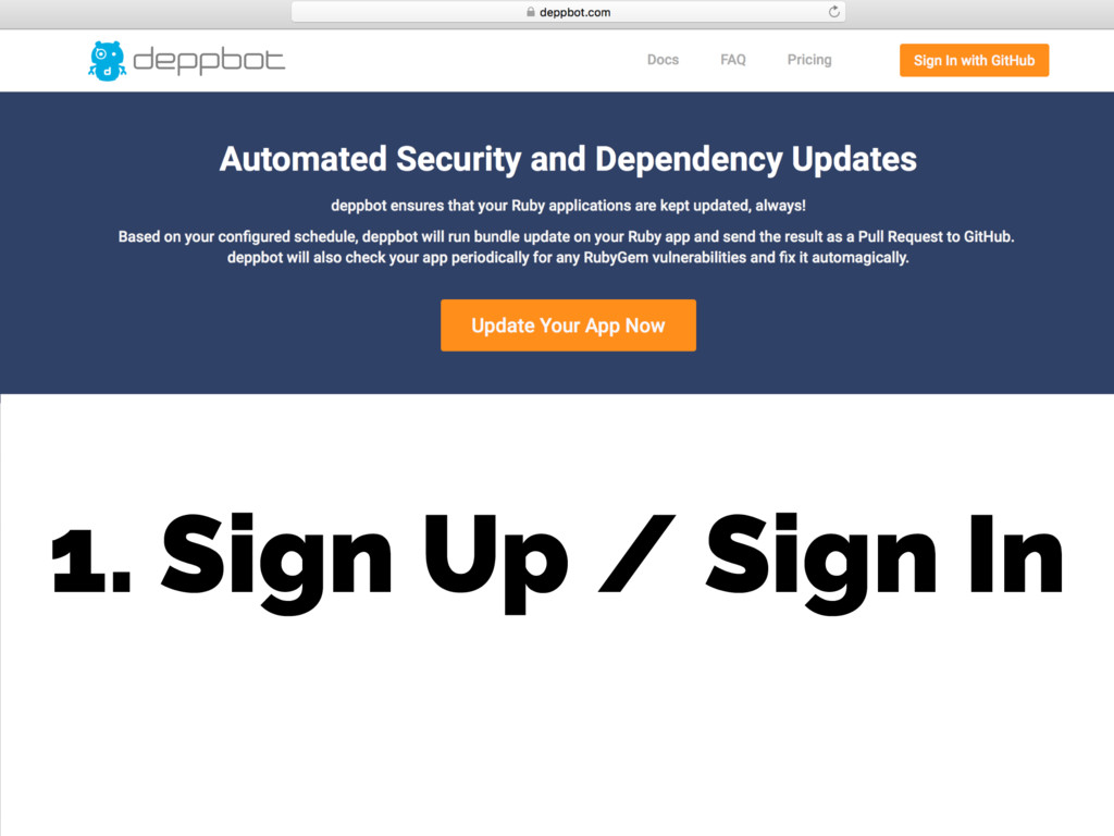 1. Sign Up / Sign In