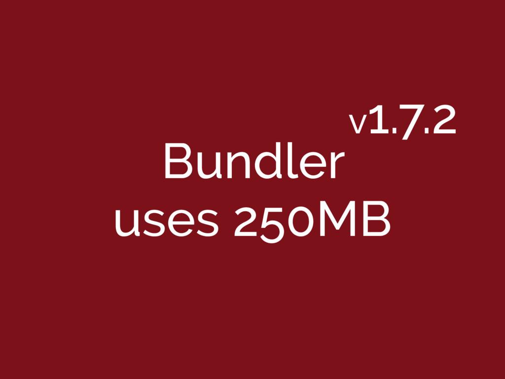 Bundler uses 250MB v1.7.2